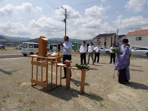 ●まもなくオープン!日根野の新分譲地の地鎮祭!