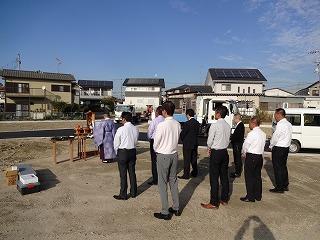 プレミアムガ-デン熊取の地鎮祭02