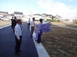 プレミアムガ-デン熊取の地鎮祭03