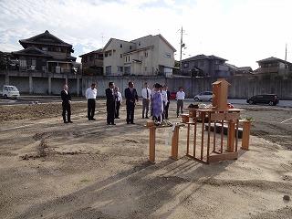 プレミアムガ-デン熊取の地鎮祭04
